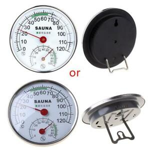 Stainless Steel Thermometer Hygrometer for Sauna Room Temperature Humidity Meter