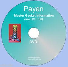 PAYEN Master joint Information DVD ROM Circa 1955 ~ 1998