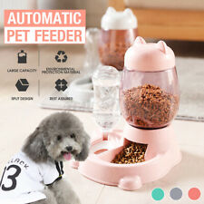 800ml Automatic Pet Dog Cat Puppy Dispenser 2 in 1 Food Drink Water Dish Feeder