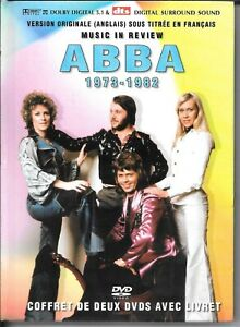 ABBA 1973-1982  MUSIC IN REVIEW - 2 DVD AND BOOK -FREE POST IN UK - NEW & SEALED