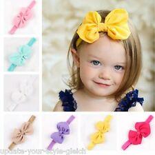 7 Farben zur Wahl Haarband Baby SAMT Mädchen elastisch Schleife Stirnband