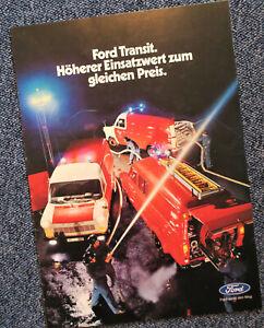Ford Transit Feuerwehrfahrzeuge Prospekt Brochure