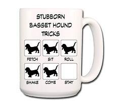 Basset Hound Stubborn Tricks Extra Large 15oz Coffee Mug