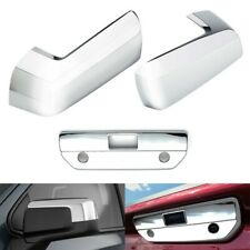 For 2019-2021 Chevy Silverado 1500 Chrome Top Mirror Covers + Tailgate Handle