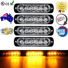4X Car Truck 6 LED Strobe Light Flash Emergency Hazard Warning Amber Lamp 18W