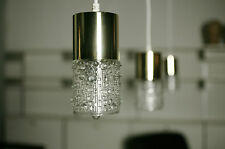 True Vintage 1x Space age ceiling lamp 70er 1 Piece Lamp 70ies Lamp Gold Glass