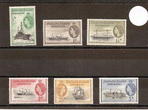 """Falkland Dep. 1954 G26-31 1st 6v of set MM Ships Connected-""""John Biscoe""""/""""Trepa"""