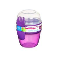 Sistema Snack Capsule to Go, Purple Lunch Pot Snacks Food On The go School Work