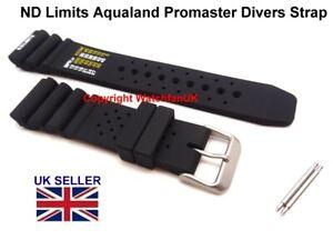 ND Limits Black Silicone Diver Strap For Citizen Aqualand Promaster