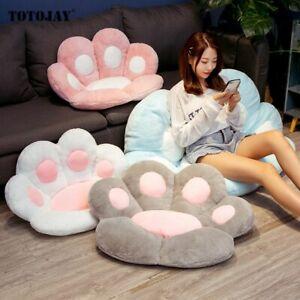 kawaii Cat Paw Plush Chair Cushion Child Seat Cushion Sofa Back Pillow Mat UK