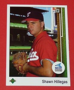 SHAWN HILLEGAS WHITE SOX CHICAGO BASEBALL CARD UPPER DECK USA 1989