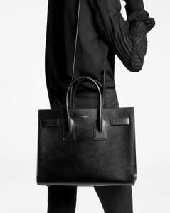 YSL YVES SAINT LAURENT SAC DE JOUR BLACK SATCHEL HANDBAG BAG