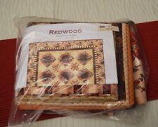 "Nancy Rink Quilt Kit ""REDWOOD""  Marcus Fabrics by Faye Burgos 71"" X 88"""