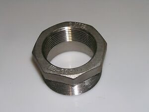 "Hex Bushing Stainless Steel 304 3/"" x 2-1//2/"" NPT Guardian"