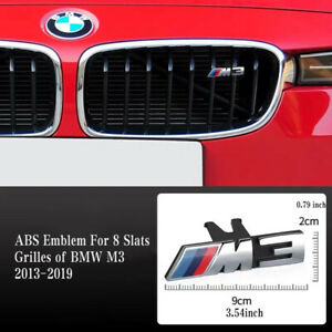 M3 Emblem For BMW 3 Series M3 8 Slats Front Grille 2012 -2019