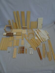 Large Lot Dollhouse Building Materials Wood Trim Architectural Mouldings Posts