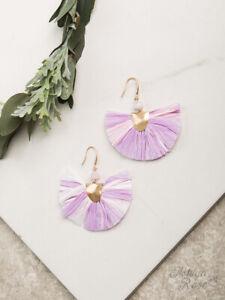 WOMENS LADIES HOOK  Earrings, Lavender and Light Pink