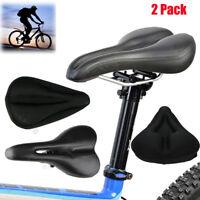 2x Bike Bicycle Pro Road Saddle MTB Sport Hollow Saddle Seat Black Soft Comfort