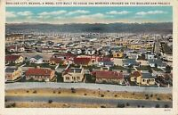 Postcard Boulder City Nevada Model City House Workmen Boulder Dam Project