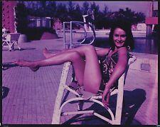vintage large 8 x 10 photo transparency sexy pinup girl starlet foto ekta c 1965