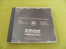 """Fear Factory Obsolete - Full Album - Advance 1998 CD """"Roadrunner RR PROMO 337"""""""