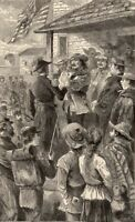 Mexican–American War TAYLOR ARMY CONQUEST NEW MEXICO ~ 1882 Art Print Engraving