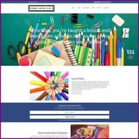 Fully Stocked Dropshipping SCHOOL SUPPLIES Website Business For Sale + Domain