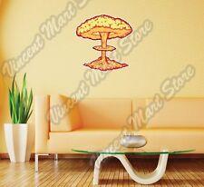 "Nuclear Explosion Mushroom Cloud War Wall Sticker Room Interior Decor 20""X25"""