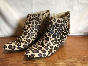 kenneth cole leopard booties