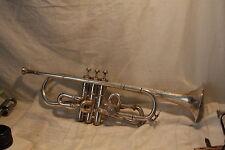 1918 Couturier Trumpet Conical Bore Disk Valve Bb/A Change w Original Mouthpiece
