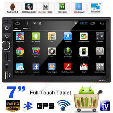 """7"""" HD Android 4.4 Double 2Din Car Stereo GPS Navi MP5 MP3 Player Bluetooth Radio"""