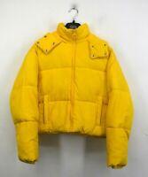 Topshop Womens Hooded Puffer Jacket Front Zip Long Sleeves Side Pocket 8 $110