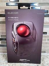 New listing Elecom M-Dpt1Mrxbk Deft Pro Wireless, Bluetooth, Wired Trackball Mouse Black