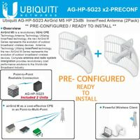 Ubiquiti airGrid M5 AG-HP-5G23 23dBi 5GHz Antenna PRE-CONFIGURED 100Mbps 2Pack