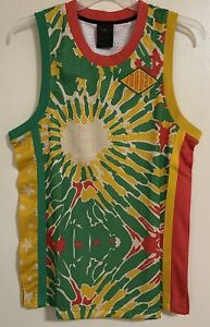Jordan Sport DNA Mens Jersey CK9525-631 Track Red/Lucky Green/Dark Sulfur Size S