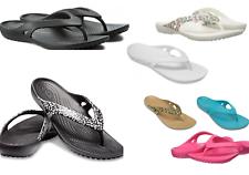 Mujeres Crocs Kadee ll Flip Sandalias Negro, Azul Marino, Rosa, Leopardo, Flamingo, puntos