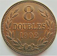 1902 H GUERNSEY 8 Doubles, Lustrous grading About UNCIRCULATED.