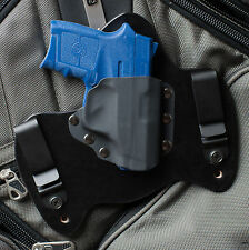 M&P Bodyguard 380 Smith and Wesson Black Leather Gun Holster IWB