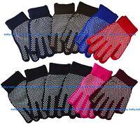 12 Pairs Wholesale Magic Knit Work Garden Gripper NON-SLIP GRABBER PALMS Gloves