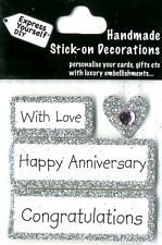 With Love Happy Anniversary Congratulations DIY Greeting Card Toppers