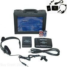 Stage Wireless Headset Microphone System Mic FM Transmitter Receiver
