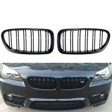 GLOSS BLACK KIDNEY SPORT GRILLES For BMW F10 F18 F02 F11 M5 10-15 Dual Slat SPE