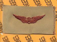 US Army Crewmember Aviation Flight desert DCU badge cloth patch