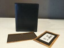 Patricia Nash For Men Italian Leather Roma Qusseted Black Wallet