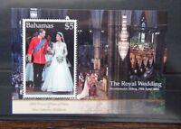 Bahamas 2011 Royal Wedding Miniature Sheet MNH