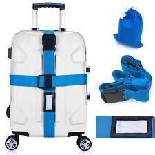 Best Travel Luggage Straps Suitcase Belt Baggage Bag Packing Secure Cross Belt