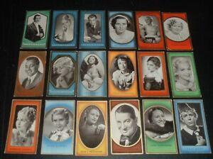 LQQK 18 vintage 1930s german tobacco cards MOVIE STARS, gable, harlow, etc. #1