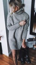 ZARA Aw16 Knit Mink Roll Neck  Jumper Dress Size M Uk 10 Bloggers Fav