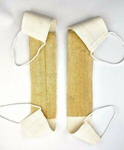 Loofah Shower Strap Exfoliating Back Scrubber Spa Skin Body Sponge Brush x1