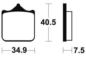 BENELLI 899 TNT CENTURY RACER - Kit Plaquettes de frein AVANT - MF262 - 382621